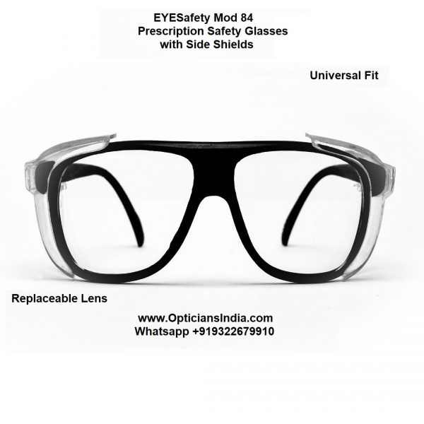 Prescription Safety Glasses with Side Shield Mod 84 Front Opticians India Online