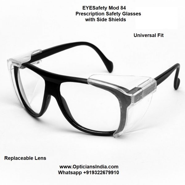 Prescription Safety Glasses with Side Shield Mod 84 Opticians India Online