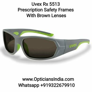 Uvex Rx 5513 Prescription Safety Glasses With Brown Lens