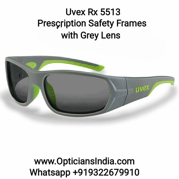 Uvex Rx 5513 Prescription Safety Glasses With Grey Lens
