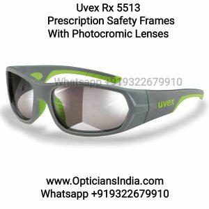 Uvex Rx 5513 Prescription Safety Glasses With Photochromic Lens