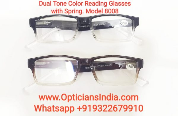 Dual Tone Color Plastic Reading Glasses