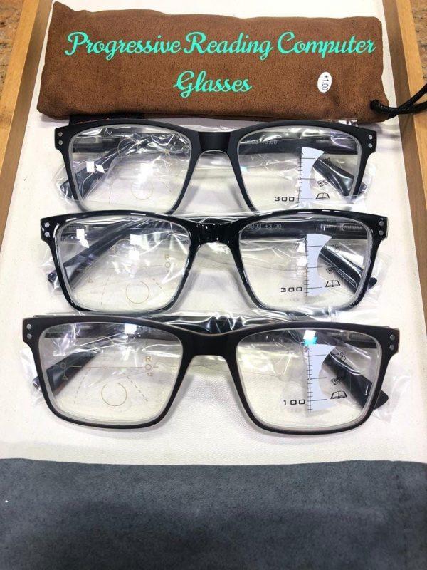 Progressive Reading Glasses with Blue ARC coating
