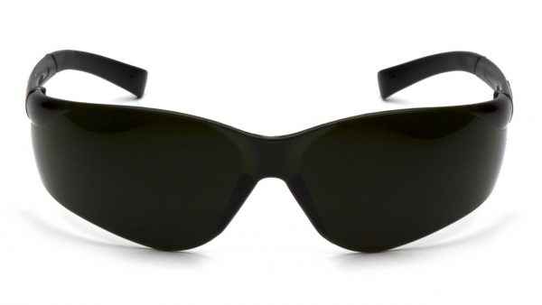 Pyramex Ztek S2550SF 5.0 IR Lens with Green Tinted Temples Safety Glasses