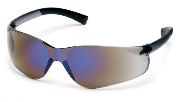 Pyramex Ztek S2575S Blue Mirror Lens with Blue Mirror Temples Safety Glasses