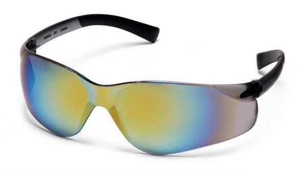 Pyramex Ztek S2590S Gold Mirror Lens with Gold Mirror Temples Safety Glasses