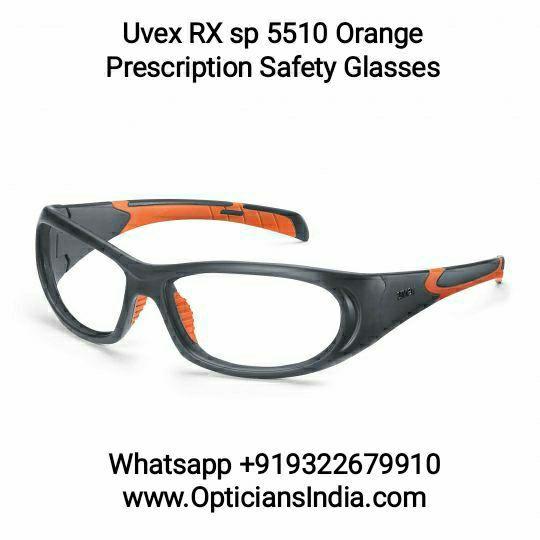 Uvex Prescription Safety Glasses RX5510 Grey Orange