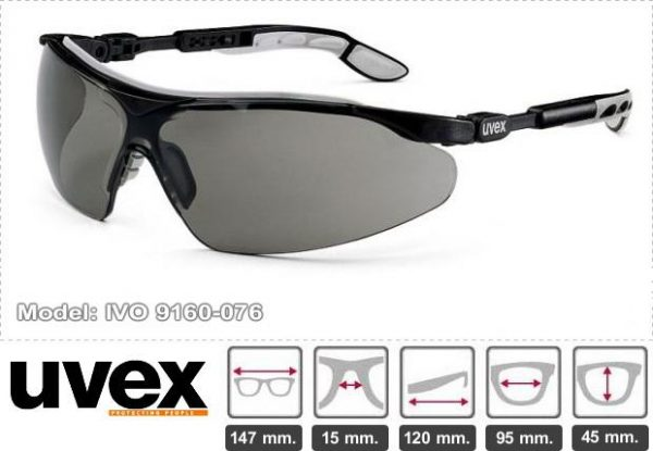 UVEX Driving Safety Sunglasses Goggles With Scratch proof and Anti Mist Coating Model 9160076