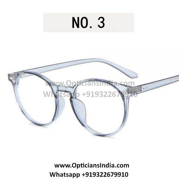 Transparent Blue Round Blue Light Glasses C7