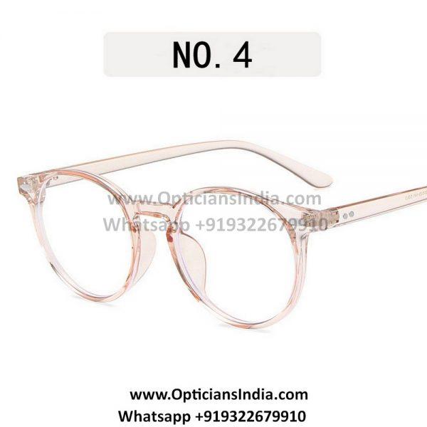 Transparent Brown Round Blue Light Glasses C3