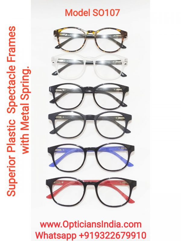 Superior Plastic Spectacle Frames Glasses with Metal Spring Model SO107