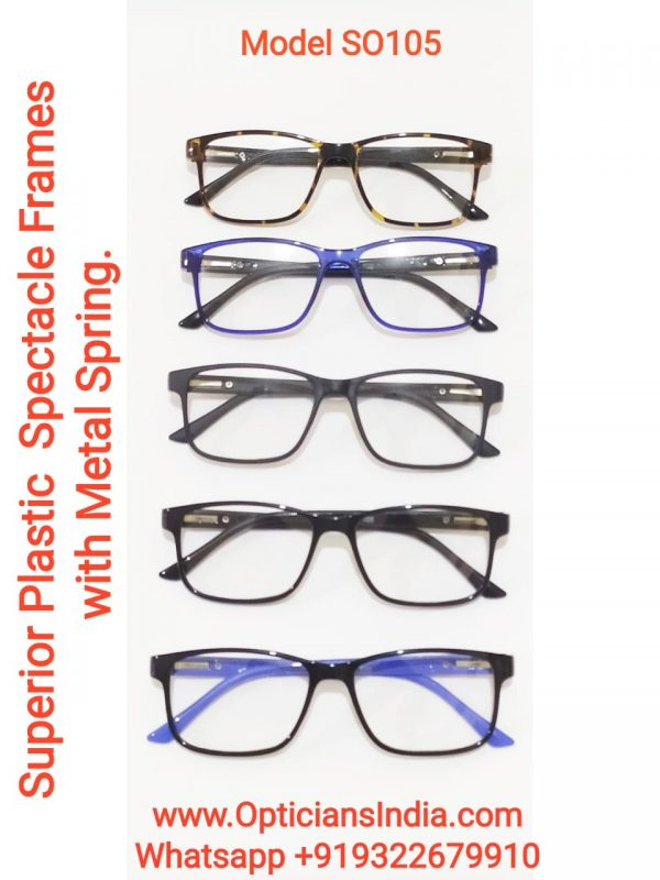 Superior Plastic Spectacle Frames Glasses with Metal Spring Model SO105