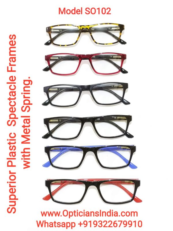 Superior Plastic Spectacle Frames Glasses with Metal Spring Model SO102