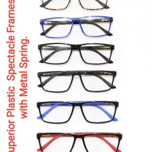 Superior Plastic Spectacle Frames Glasses with Metal Spring Model SO103