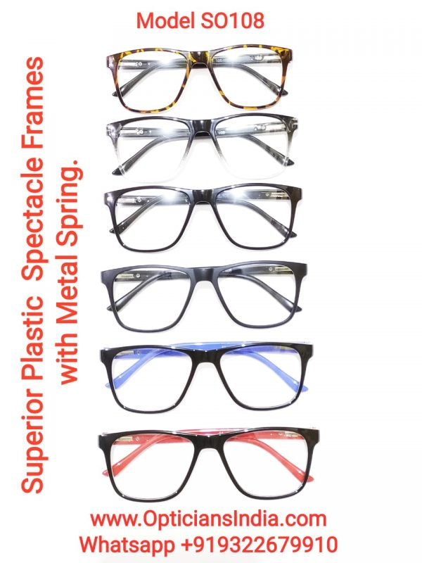 Superior Plastic Spectacle Frames Glasses with Metal Spring Model SO108