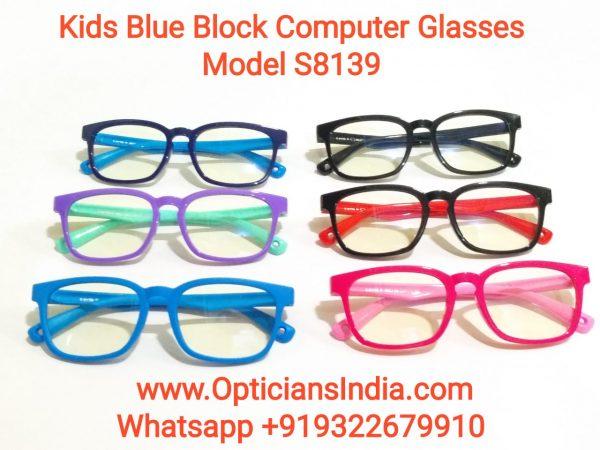 Kids Blue Block Computer Glasses S8139