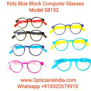 Kids Blue Block Computer Glasses S8152