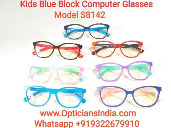 Kids Blue Block Computer Glasses S8142