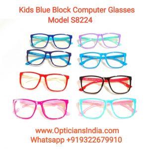 Kids Blue Block Computer Glasses S8224