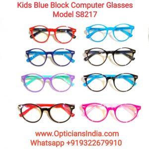 Kids Blue Block Computer Glasses S8217
