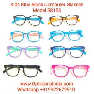 Kids Blue Block Computer Glasses S8158