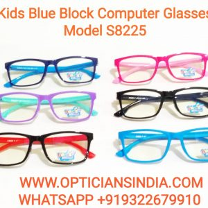 Kids Blue Block Computer Glasses S8225
