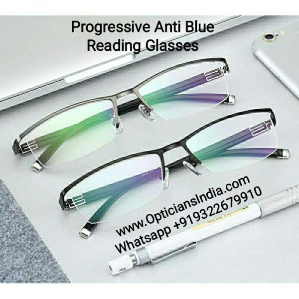 Progressive Reading Glasses with Blue Block Blue Anti Glare Lens