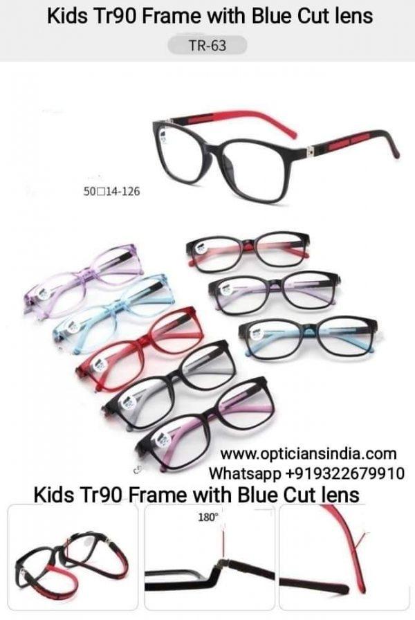 Kids Blue Block Computer Glasses TR63