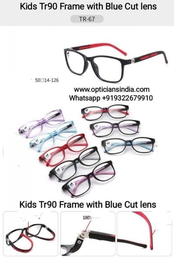 Kids Blue Block Computer Glasses TR67