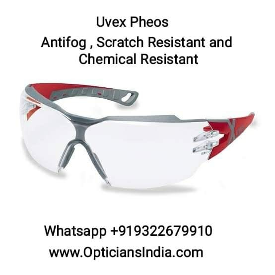 Uvex Pheos CX2 Spectacles Safety Glasses Anti Fog Scratch Resistant Chemical Resistant