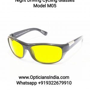 Night Driving Cycling Sunglasses Model M05 Yellow