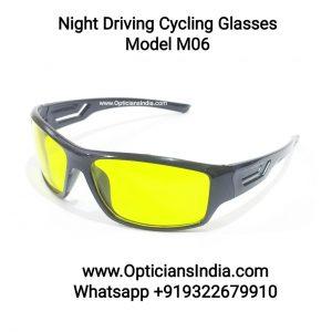 Night Driving Cycling Sunglasses Model M06 Yellow