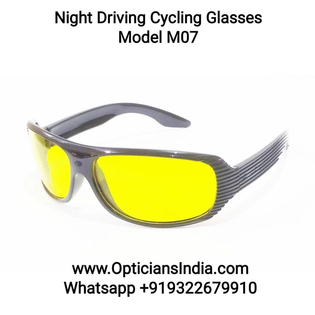 Night Driving Cycling Sunglasses Model M07 Yellow