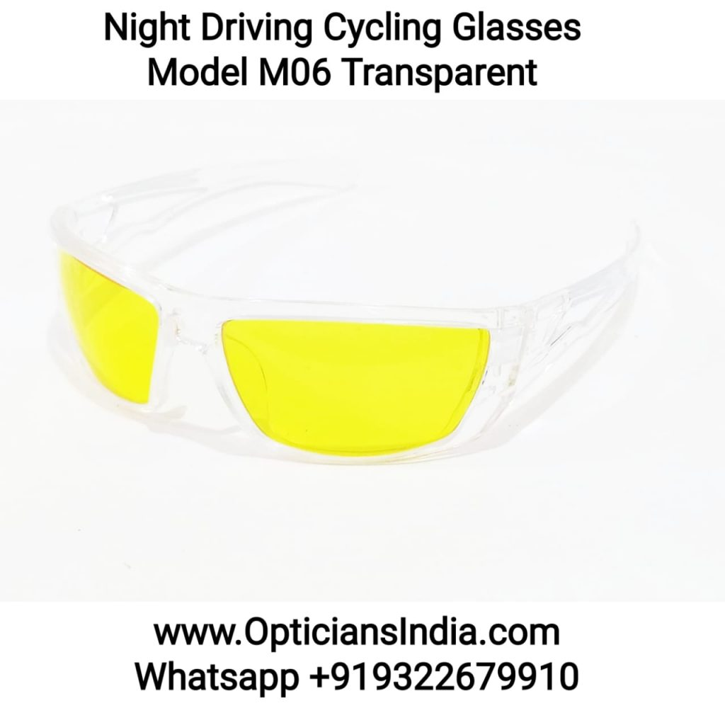 Night Driving Cycling Sunglasses Model M06 Transparent Frame Yellow Frame