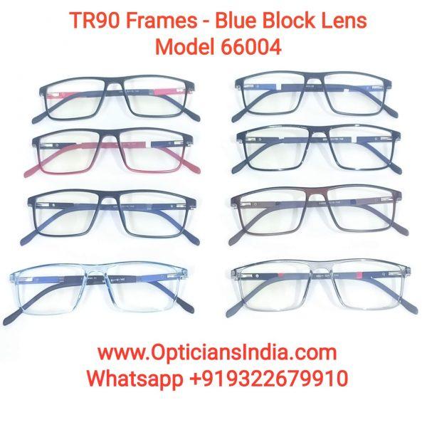 Unbreakable TR90 Frames Glasses with Anti Blue Light Lenses 66004