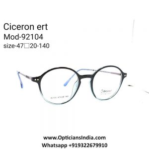 TR90 Full Frame Round Glasses with Metal Side