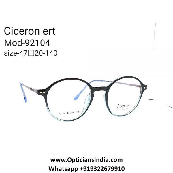 TR90 Full Frame Glasses with Metal Side